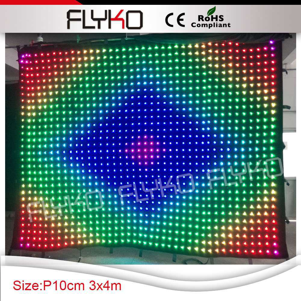 Free Shipping RGB 3in1 Light Effects LED Video Curtain In Stage Lighting Effect From Lights On Aliexpress