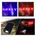 Laser Shadow logo Projector lamp Car led License Plate Lights FOR Geely Emgrand EC7 GX7 EC718 Hatchback/GX9/Emgrand SX7 GC5 GC6