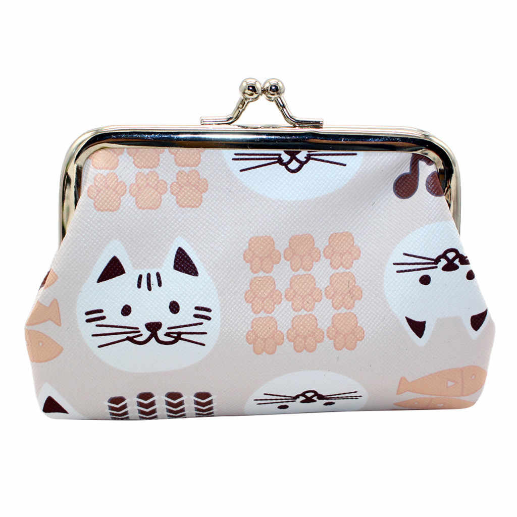 90f9fe95b904 Women Girl Cute Cat Printing Bohemia Style Leather Wallet Coin Purse  Messenger Bags Ladies Casual Card Holders Handbag Bag