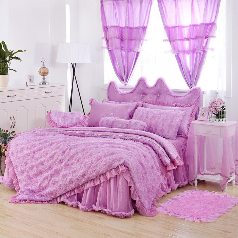 Online Buy Wholesale purple bedroom set from China purple bedroom ...