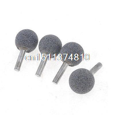 Hardware Grinding Tool 1 Dia Head 6mm Shank Diamond Mounted Ball 5cm Length 100 pcs 3mm shank mounted grinding cylinder point polishing tool 8mm dia tip