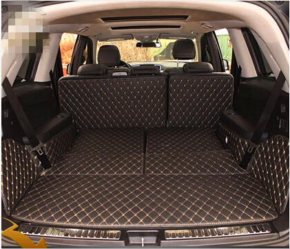 Good! Special trunk mats for Mercedes Benz GL 350 X166 7seats 2016-2013 durable boot carpets cargo liner for GL350,Free shipping