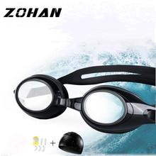 Electroplating UV Waterproof Anti fog Swimwear Eyewear Swim Diving Water Glasses Gafas Adjustable Swimming GogglesSportWomen Men