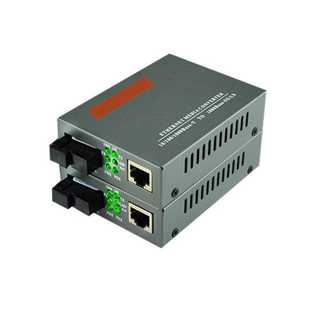 1 pair HTB GS 03 A/B 10/100/1000M ricetrasmettitore in fibra Modalità Singola Singola Fibra SC Porta 20KM Fast Ethernet Media Converter