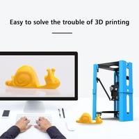 Мини DIY настольным принтером 3D печати 1,75 мм нити Поддержка безопасности USB цифровой карты Высокая точность FDM принтера