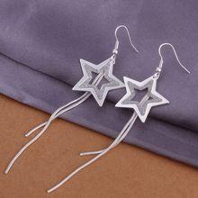 Estilo del verano fine silver plated pendientes 925-sterling-silver joyería de los pendientes de gota para para SE320