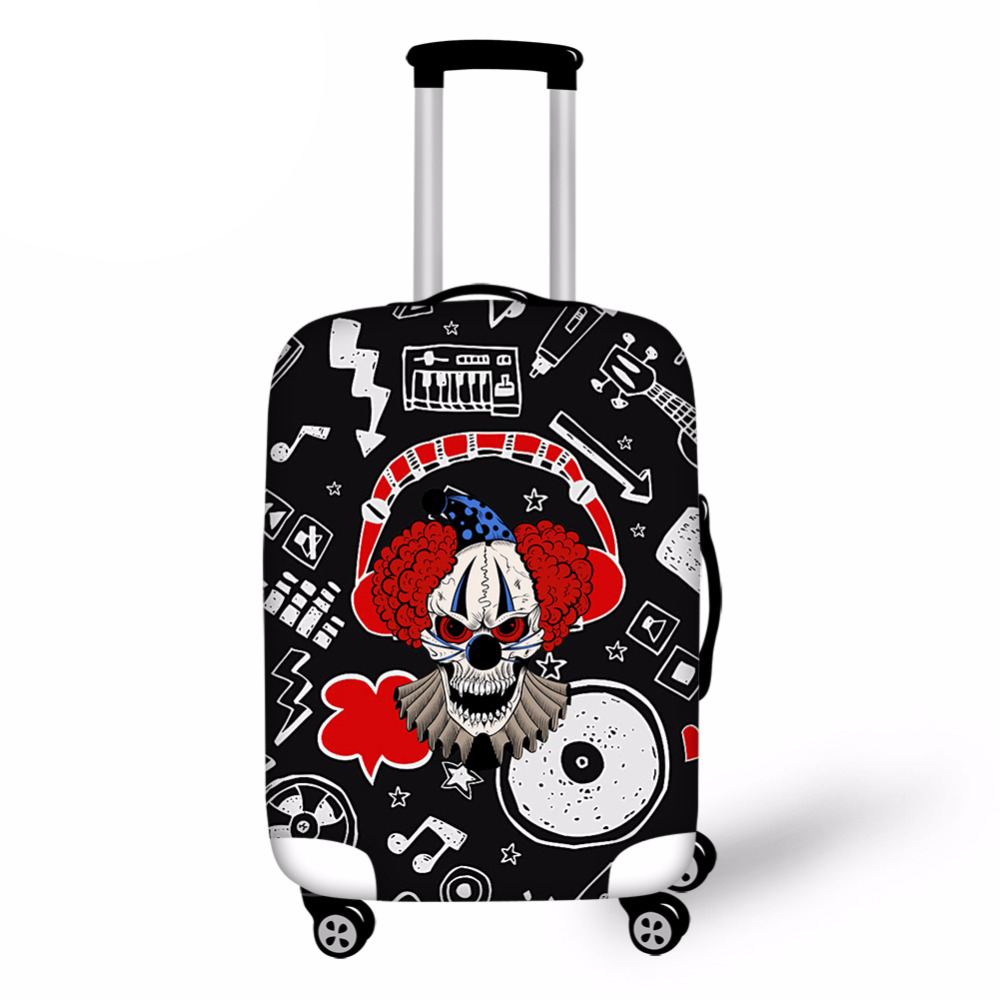 Cool Printing Skull Travel Suitcase Cover Creative 18-30inch Luggage Cover Novel Baggage Cover Luggage Accessories
