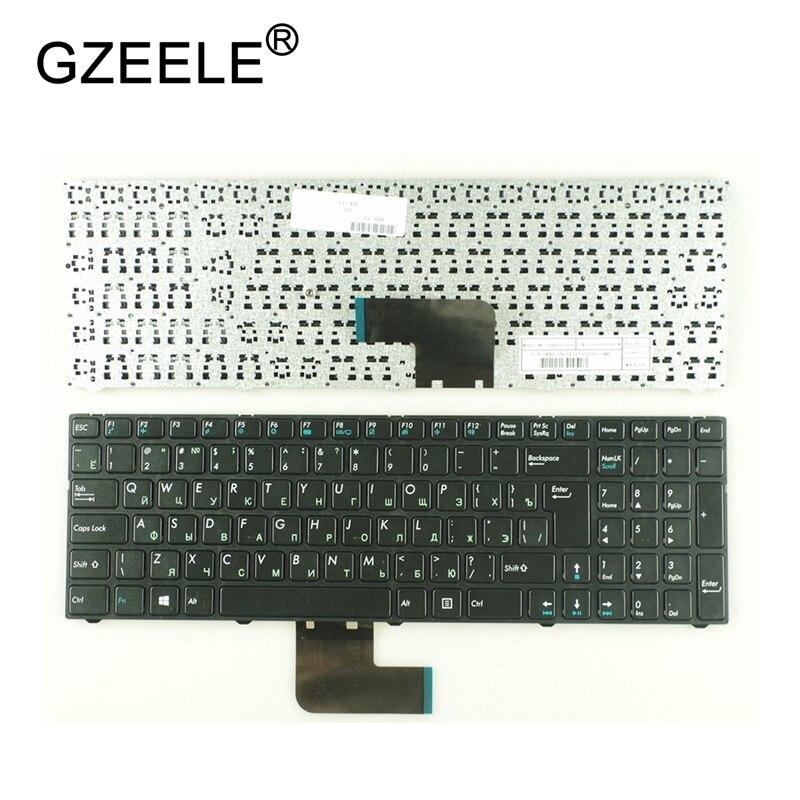 GZEELE Russian RU Keyboard For DNS Pegatron C15 C15A C15E C17A C15B 0KN0-CN4RU12 MP-13A83SU-5283 0803498 KLAVYE PG-C1 With Frame