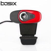 Basix USB Câmera Web Cam USB Webcam Câmera com Microfone para PC Desktop Laptop Acessórios de Computador Microfone Webcamer