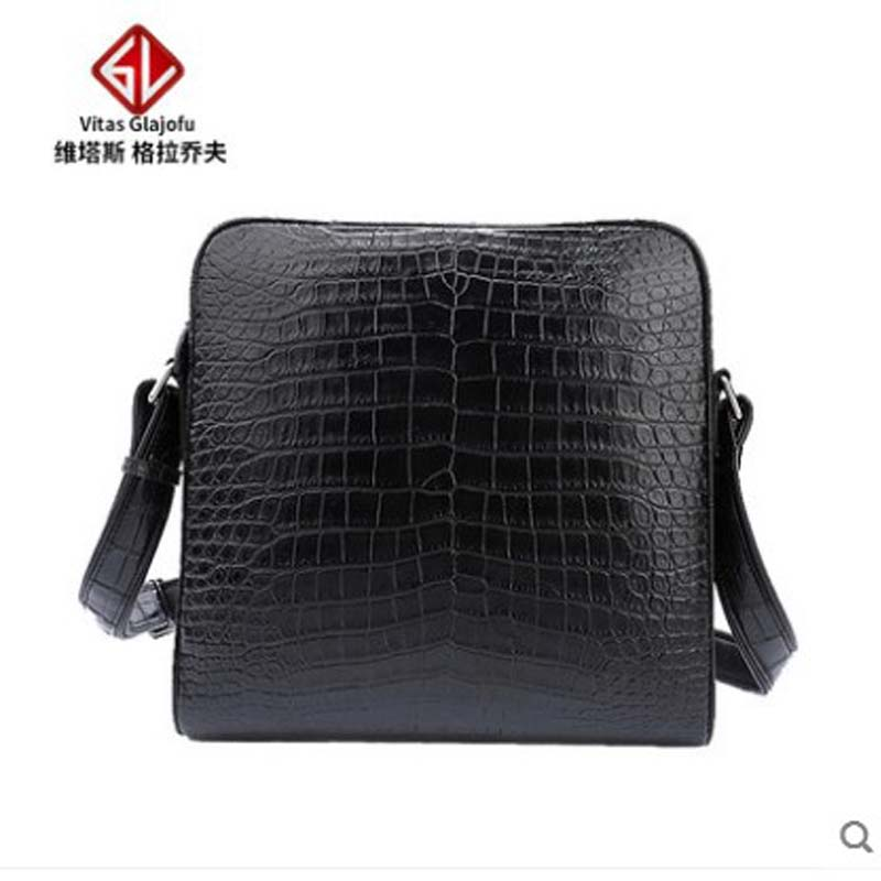 Weitasi Crocodile Leather Men's Bag Single-shoulder Bag Men's Crossbody Leisure Men Handbag Men Bag