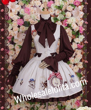 Vintage Vertical Stripe Collage Style Alice Waistcoat  Lolita Dress  Ball Gown Gothic Lolita Dress