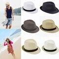 Вс 2015 модный мода женщины мужчины унисекс Cap пляж джаз соломенной шляпе пары любители прохладные шляпы