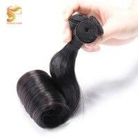 AOSUN HAIR 100% Human Hair Brazilian Fumi Egg Curly Hair Weave Bundles 1 Piece Double Drawn Fumi Egg Hair Extension 10 20Inch
