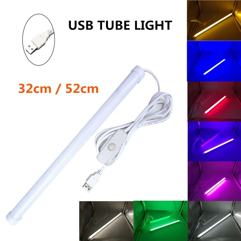 USB LED مصباح أنبوبي 5 فولت 2835 SMD LED مصباح 32 سنتيمتر 52 سنتيمتر مصباح شريط صلب لمبة بار القراءة كتاب لمبة مكتب ضوء الليل سامسونج خزانة