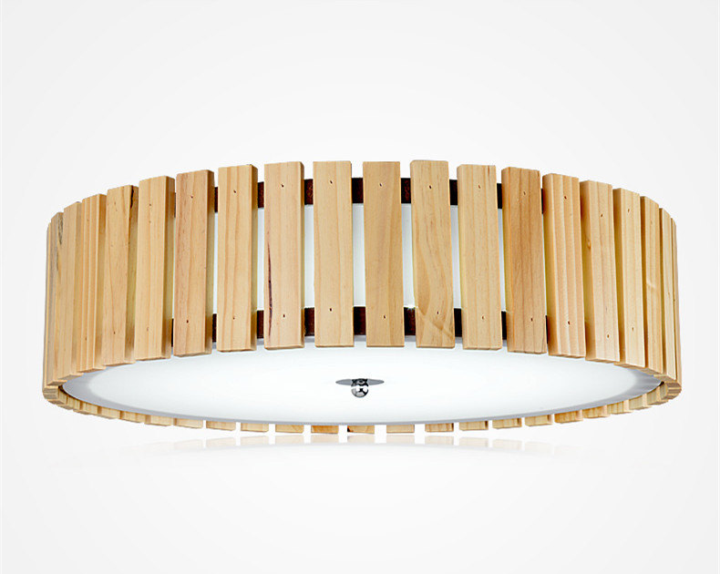Japanese Led Round Ceiling Lights Wood Decorative Contemporary Lamp Lantern Living Room Asian Tatami Interior Ceiling Light Home japanese wood ceiling lights led lamp e27 tatami bedroom living room flush mount ceiling lamp home decorative design lantern