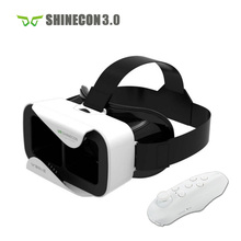 VR Shinecon 3.0 Helmet Cardboard 3D VR Glasses Mobile Phone 3D Video Movie for 4.7-6.0″ Smartphone