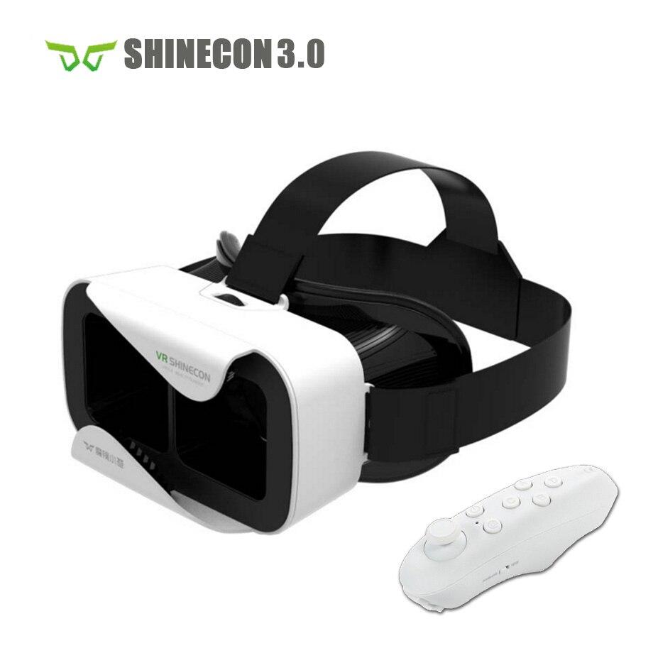 Shinecon 3.0 casco de cartón vr vr 3d gafas 3d teléfono móvil película de vídeo