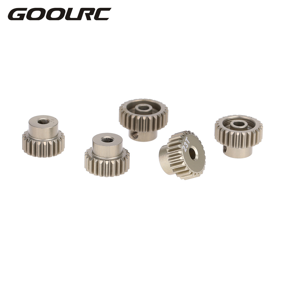 GOOLRC Hight Quality Aluminum 7075 48DP 21T 22T 23T 24T 25T Pinion Motor Gear Set for 1/10 RC Car Brushed Brushless Motor goolrc original high quality aluminum