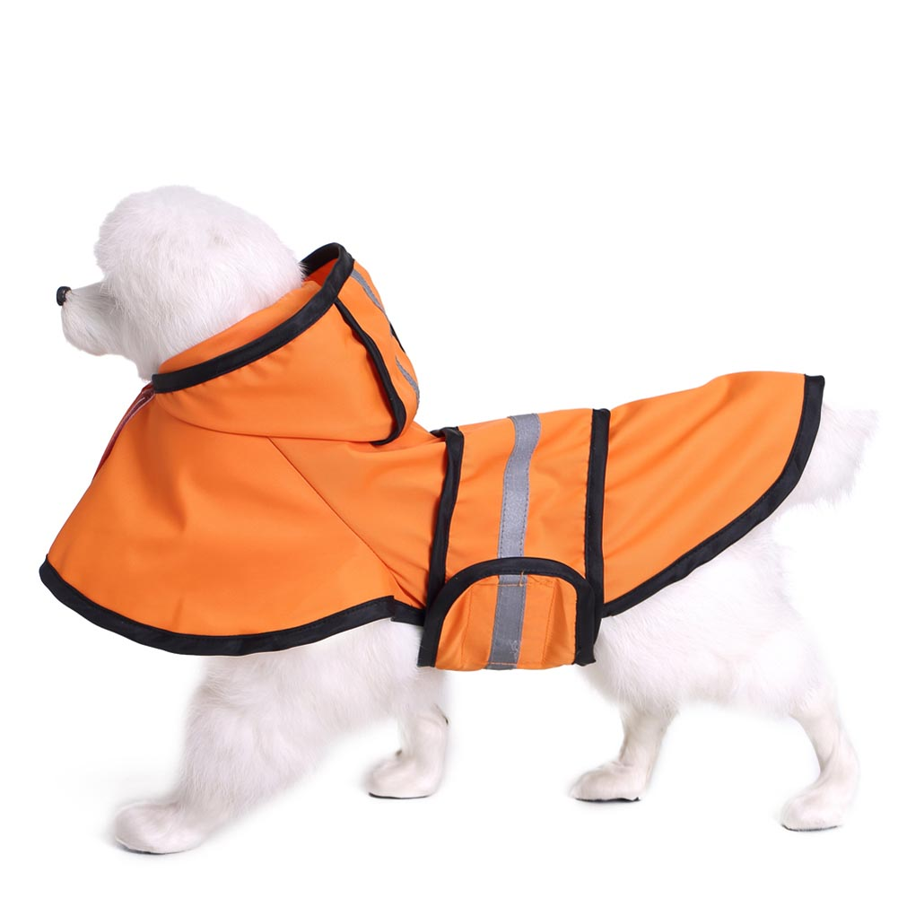 Raincoat Jacket Reflective Fleece Liner Warm Hood Drawstring for Large Dog Golden Retriever Dog XH8Z ...