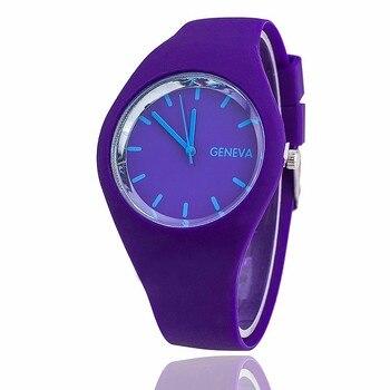 New Fashion brand Candy colors Quartz women watches relojes silicone strap men sports watch Unisex Geneva casual wrist watches Women Quartz Watches