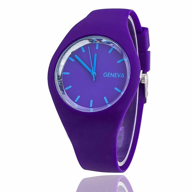 New Fashion brand Candy colors Quartz women watches relojes silicone strap men s