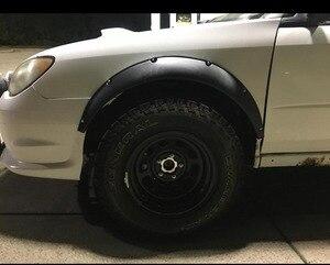 """Image 4 - Универсальный гибкий автомобильный брызговик 3,5 """"/90 мм, 4 шт., дополнительные широкие колесные арки"""