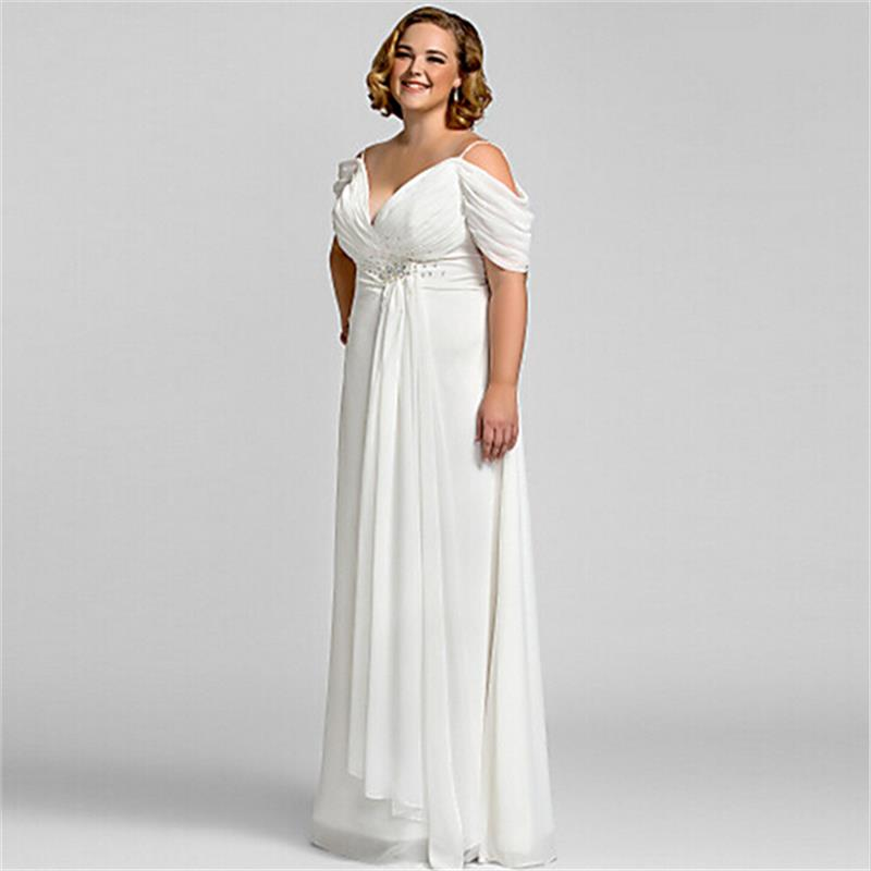 New 2016 Winter Vintage Long White Short Sleeve Evening Dresses Plus ...