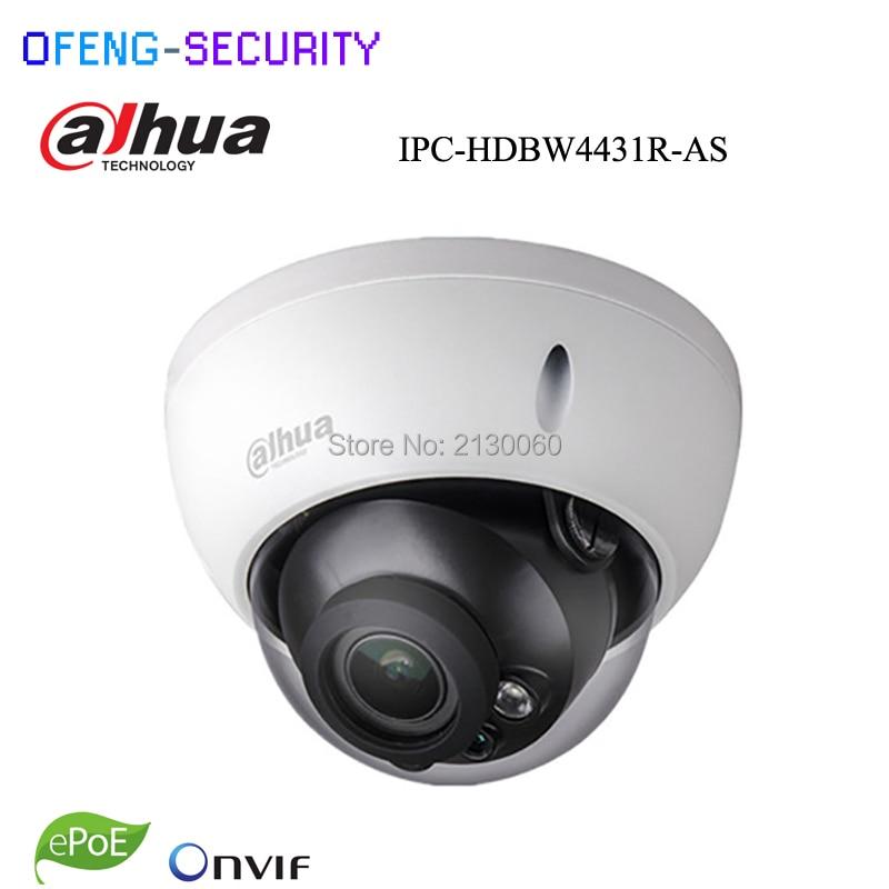 Dahua 4MP IPC-HDBW4433R-AS replace of IPC-HDBW4431R-AS IP camera network camera Support POE Micro SD Audio 1/1 In/Out,Starlight original dahua 4mp ipc hdbw4421r as ip network camera support poe