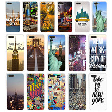 208WE New YorkSoft Silicone Tpu Cover Case for huawei Honor 7a pro 7x 7c Nova 2i 3 3i p smare(China)