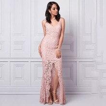 Wedding Boutique Mother of the Bride Dresses V-neckline Sleeveless Front Slit Evening Dress V-back ultra-feminine lace Gowns