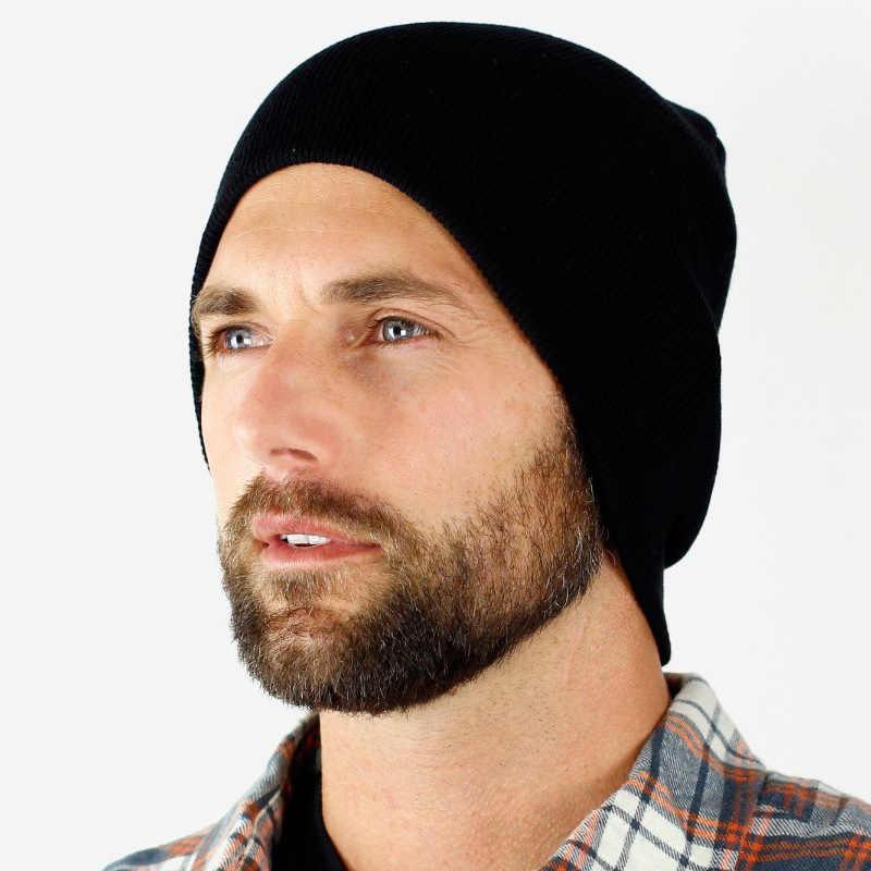 61dda96f127b3 New Beanies Men Hat Winter Hats For Men Women Knit Hat Caps Skull Brand  Bonnet Casual Skullies Warm Cap Black Winter Beanie 2018