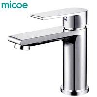 Micoe New Basin Faucet Basin Taps Bathroom Faucet Basin Sink Deck Mounted Basin Mixer Chrome Brass Bathroom Taps H HC217