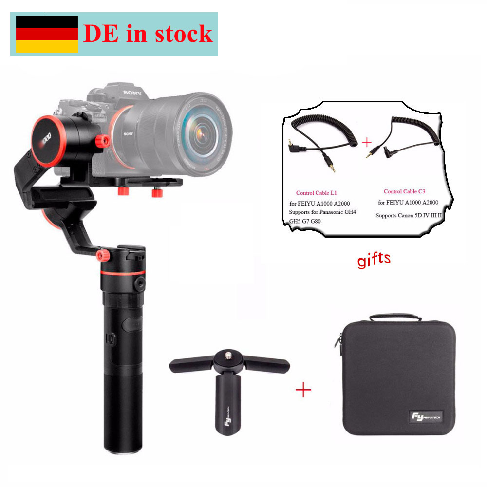 (DE Location) FeiyuTech Feiyu A1000 A2000 3 Axis Handled Gimbal Stabilizer for Sony a6500 a6300 iPhone 8 Sumsung GoPro Hero 5