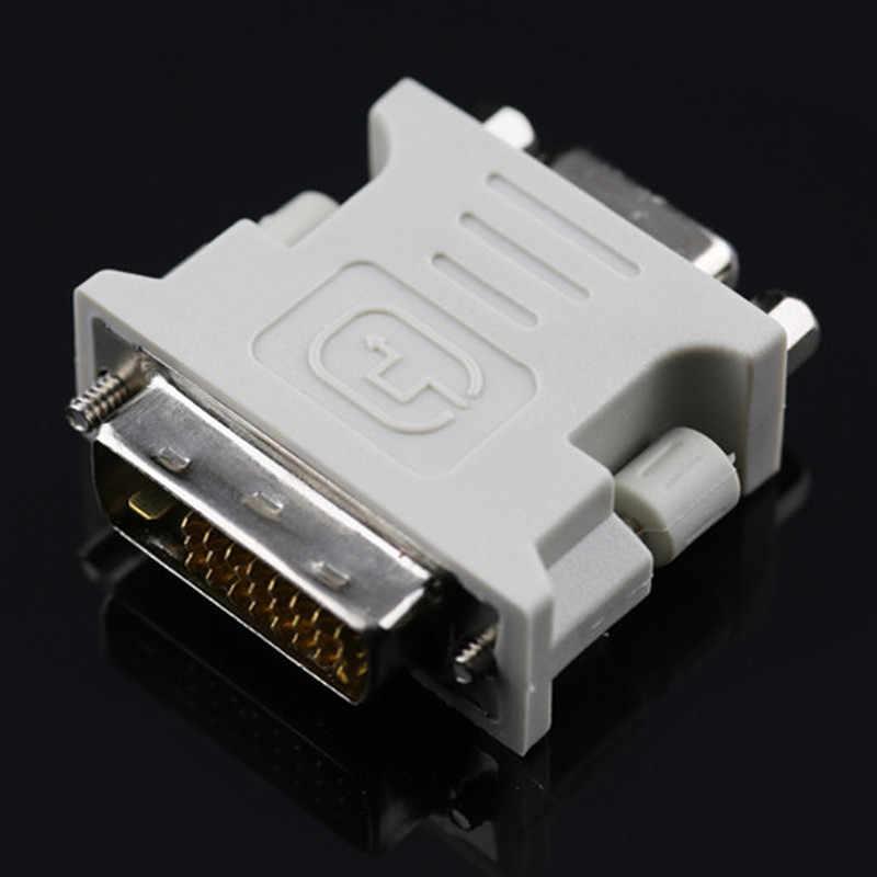 24 + 1 دبوس VGA محولات سبائك + البلاستيك DVI-D الذكور إلى 15 دبوس VGA شاحن أنثي الفيديو تحويل صالح ل PC كمبيوتر محمول