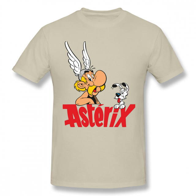 US $11.65 39% OFF|100% Cotton Tees For Male Asterix Tee Summer T Shirt Pure Cotton Big Size Homme T shirt in T Shirts from Men's Clothing on