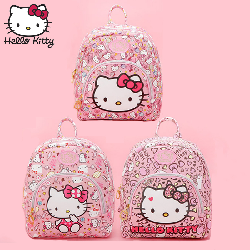 Hello Kitty Bag Fashion Children's Cartoon Pink KT Backpack Girl Schoolbag Baby Shoulder Girls Birthday Gifts Good Quality Plush