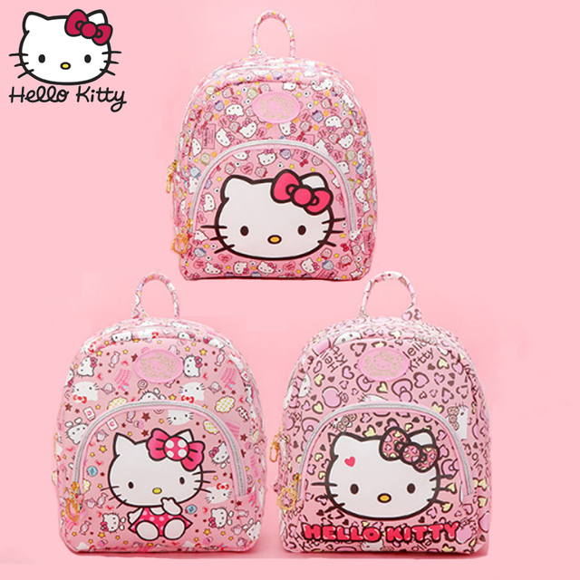 a70fd2b0254c Hello Kitty Bag Fashion Children S Cartoon Pink KT Backpack Girl Schoolbag  Baby Shoulder Girls Birthday