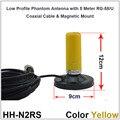 Doble Banda VHF UHF Móvil/Vehículo Radio Antena w/montaje magnético y 5 M de Cable Coaxial para QYT KT-8900 KT8900R KT8900 BJ-218 TM-218