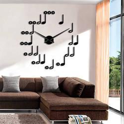 Nuty DIY zegary ścienne nowoczesny Design muzyczna ściana tematyczna dekoracja do salonu wyjątkowy prezent dla miłośników muzyki