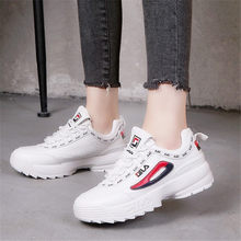 ae9b1005f2689 Kadın koşu ayakkabıları Yeni Bayanlar Platformu Sneakers Filas Disruptor 2 beyaz  ayakkabı Nefes Spor spor ayakkabı