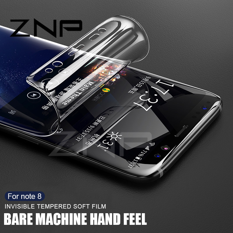 ZNP Soft Full Screen Protector For Samsung Galaxy S8 Plus Note 8 Film For Samsung S7 Edge S6 Edge Screen Protective (Not Glass )