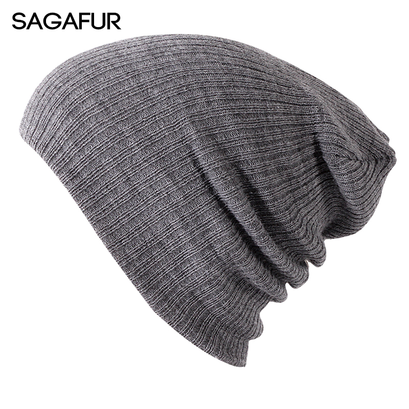Soft Knitted Hat Female Men Cap Women's Cotton Beanies For Girl Winter 2019 New Plain Hats Female Solid Bonnet Autumn Skullies