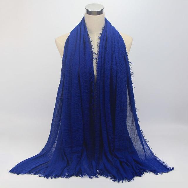 wholesale price 70*180cm women muslim crinkle hijab scarf 5