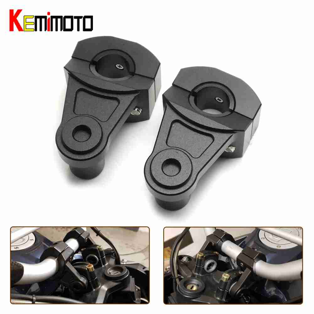 Motorcycle Handlebar Riser 22mm 28mm Bars Clamp handle bar risers for suzuki for yamaha for bmw Anodized Pivoting CNC Aluminum