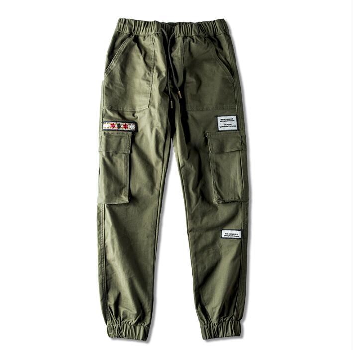 Per Harem tasca Di verde Uomini Il Dei Nero Homme Casual Mens Dell esercito  Pantaloni Nero ... 47d654b40a4