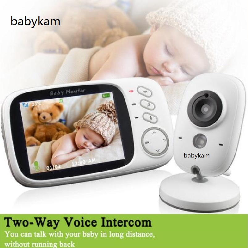 babykam babyfoon met camera baby monitor 3.2 inch Intercom IR Night Vision Temperature Sensor Lullabies baby monitor with camera