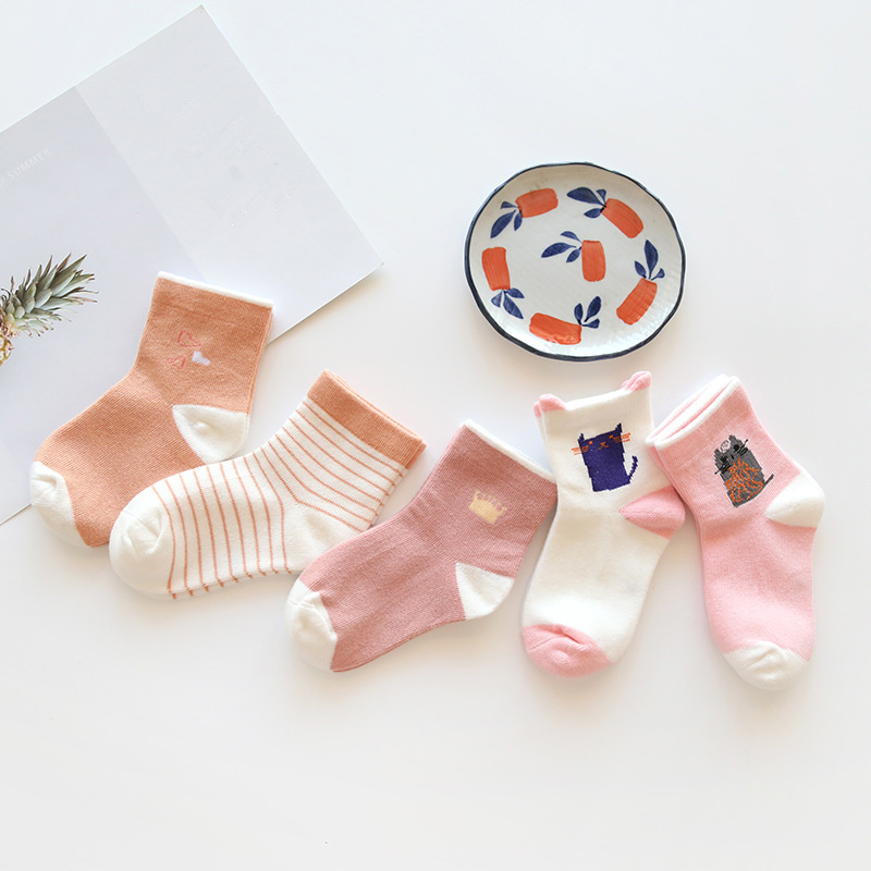 Baby Boy Socks 5 Pairs Children Autumn Winter Cartoon Socks For Girls Kids For Girls To School Sport Baby Girl Clothes #4