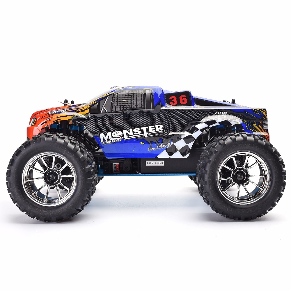 HSP Rc Truck 1/10 Scale Models Nitro Gas Power Off Road Monster Truck 94188 4wd High Speed Hobby Remote Control Car hsp 94188 rc car nitro 4wd 1 10th off road monster buggy high speed 1 10 truck p2