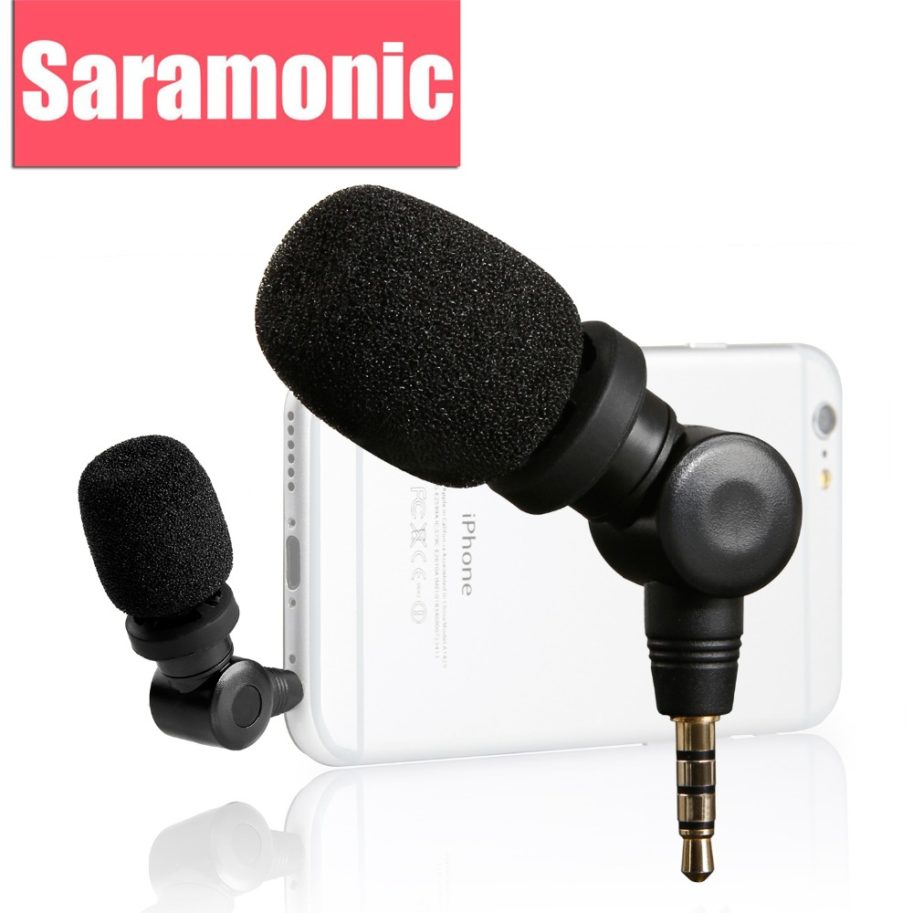 Saramonic SmartMic Microfon flexibil cu mare sensibilitate pentru Apple IOS iPhone X 8 7 7 plus 6 iPad iPod Touch Smartphone Vlog