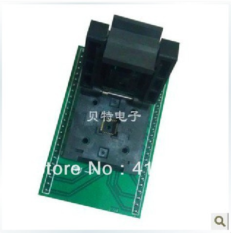 Import QFN40/D40 test socket adapter convert burn 6*6mm 0.5mm pitch original plcc44 to dip40 block adapter block cnv plcc mpu51 test convert burn